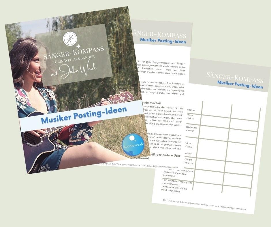 Gute Posting Ideen für Musiker Sänger