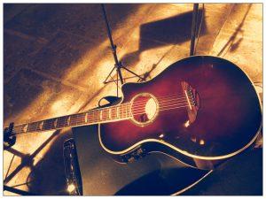 Hochzeitssängerin mit Gitarre