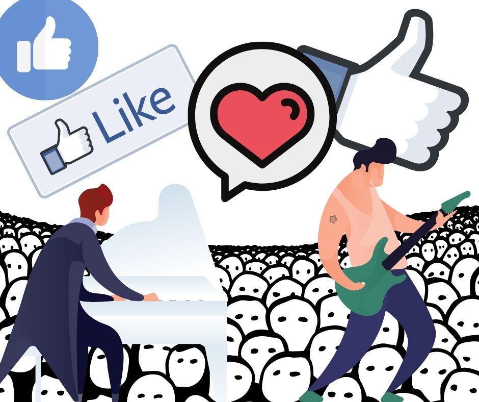 mehr likes facebook bandpage! nicht jagen