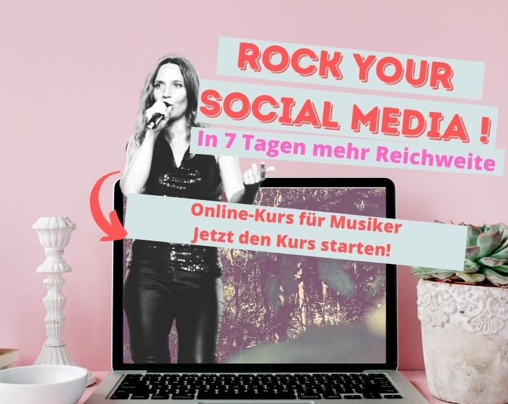Musiker Werbung Kurs online social media