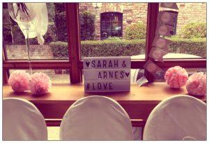 Hochzeitsdekoration Sarah und Arnes