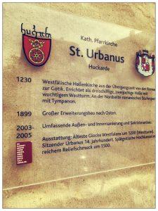 Kirchenschild Dortmund St. Urbanus