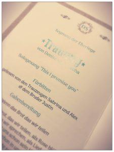Liederheft für die Trauung Sologesang by Julie
