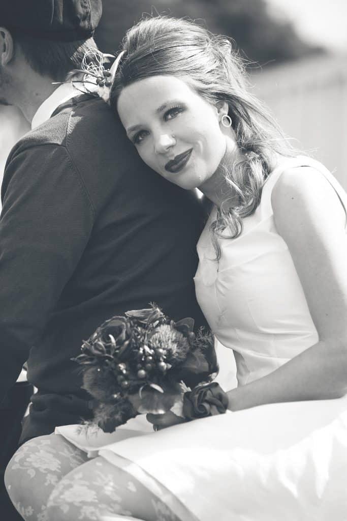 Brautmoden Fotoshooting Sängerin
